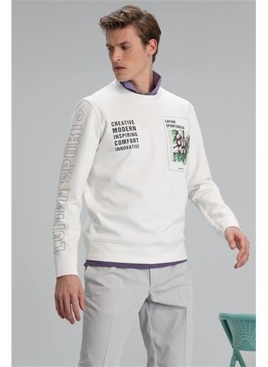 Lufian Brown Sweatshirt   Beyaz
